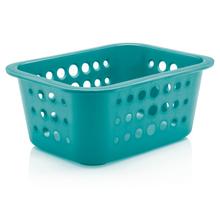 Cesto Organizador  Plástico Turquesa 1,3L 8x18,5x14,5cm Organize Martiplast