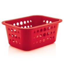 Cesto Organizador  Plástico Vermelho 1,3L 8x18,5x14,5cm Organize Martiplast
