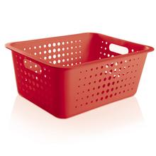 Cesto Organizador  Plástico Vermelho 14,2L 16,5x41x31cm Organize Martiplast