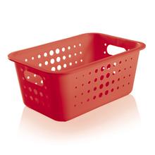Cesto Organizador  Plástico Vermelho 4,5L 12,5x29x19,5cm Organize Martiplast