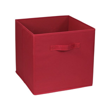 Cesto Organizador Dobrável Plástico Vermelho 31x31x31cm