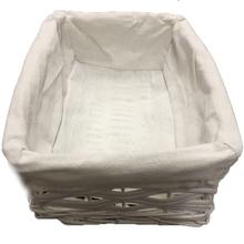 Cesto Organizador Fibra Cesto Fibra/Tecido Caraiva Branco 11x32x22cm Spaceo