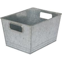 Cesto Organizador Metal Galvanizado Industrial 33x25x19cm