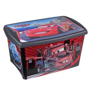 Cesto Organizador Plástico 66L Preto com Tampa 33,50x42,20x62,80cm Licenciados Plasútil
