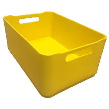 Cesto Organizador Plástico Amarelo 0,5L 6x9x13,5 Spaceo