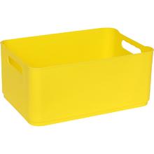 Cesto Organizador Plástico Amarelo 12x18,5x27cm 4,5L Spaceo