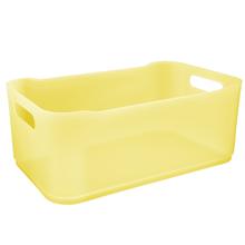 Cesto Organizador Plástico Amarelo 12x18,5x30,5cm Organizadores Coza