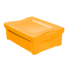 Cesto Organizador Plástico Amarelo 14,4x30,5x42,5cm 13,5L Ordene