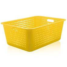 Cesto Organizador Plástico Amarelo 40L 22x41x56cm Organize Martiplast