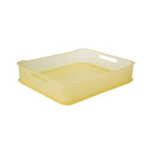 Cesto Organizador Plástico Amarelo 6,5L 38x31,60x8cm Fit Maxi Coza