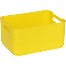 Cesto Organizador Plástico Amarelo 9x13,5x18,5cm 1,7L Spaceo