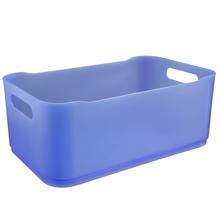 Cesto Organizador Plástico Azul 12x18,5x30,5cm Organizadores Coza