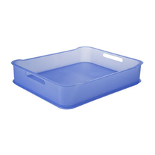 Cesto Organizador Plástico Azul 6,5L 38x31,60x8cm Fit Maxi Coza