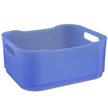 Cesto Organizador Plástico Azul 8x15x18,5cm Organizadores Coza