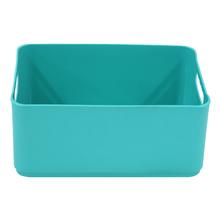 Cesto Organizador Plástico Azul Tiffany 12x18,5x27cm 4,5L Spaceo