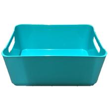 Cesto Organizador Plástico Azul Turquesa 1,7L 9x13,5x18,5cm Spaceo