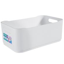 Cesto Organizador Plástico Branco 12x18,5x30,5cm Organizadores Coza