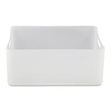 Cesto Organizador Plástico Branco 15x27x37,5cm 12,5L Spaceo