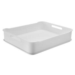 Cesto Organizador Plástico Branco 6,5L 38x31,60x8cm Fit Maxi Coza