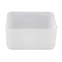 Cesto Organizador Plástico Branco 9x13,5x18,5cm 1,7L Spaceo