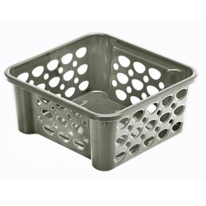 Cesto Organizador Plástico Cinza 0,75L 6,1x13,1x13,5cm Casar Fit Sanremo