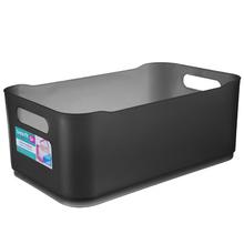 Cesto Organizador Plástico Fumê 12x18,5x30,5cm Organizadores Coza