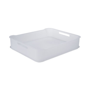 Cesto Organizador Plástico Natural 6,5L 38x31,60x8cm Fit Maxi Coza