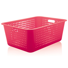 Cesto Organizador Plástico Pink 40L 22x41x56cm Organize Martiplast