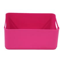 Cesto Organizador Plástico Rosa 12x18,5x27cm 4,5L Spaceo