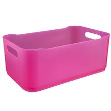Cesto Organizador Plástico Rosa 12x18,5x30,5cm Organizadores Coza