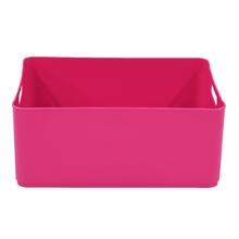 Cesto Organizador Plástico Rosa 15x27x37,5cm 12,5L Spaceo