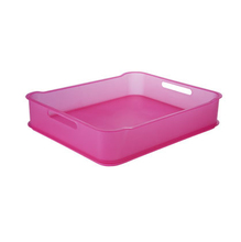 Cesto Organizador Plástico Rosa 6,5L 38x31,60x8cm Fit Maxi Coza