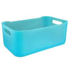 Cesto Organizador Plástico Verde 12x18,5x30,5cm Organizadores Coza