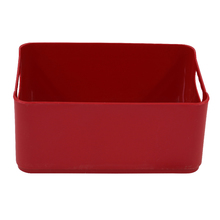 Cesto Organizador Plástico Vermelho 12x18,5x27cm 4,5L Spaceo