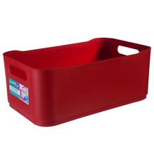 Cesto Organizador Plástico Vermelho 12x18,5x30,5cm Organizadores Coza