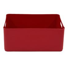 Cesto Organizador Plástico Vermelho 15,5x27x37,5cm 12,5L Spaceo