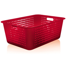 Cesto Organizador Plástico Vermelho 40L 22x41x56cm Martiplast