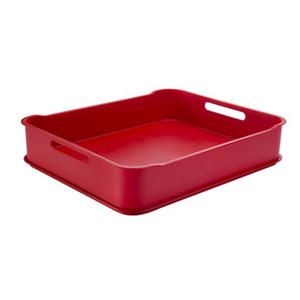 Cesto Organizador Plástico Vermelho 6,5L 38x31,60x8cm Fit Maxi Coza