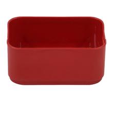 Cesto Organizador Plástico Vermelho 6x9x13,5cm 0,5L Spaceo
