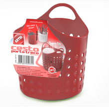 Cesto Organizador Plástico Vermelho 75x95x95cm Arthi