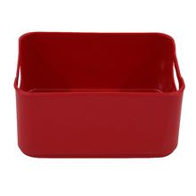 Cesto Organizador Plástico Vermelho 9x13,5x18,5cm 1,7L Spaceo