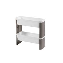 Cesto Organizador Slim 2 Andares Branco 44,8x17,3x44cm Loft Coza