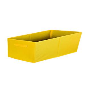 Cesto Organizador Tecido Amarelo 15x31x15 cm Importado