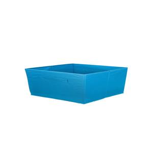 Cesto Organizador Tecido Azul 15x31x15 cm Importado