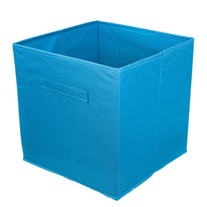 Cesto Organizador Tecido Azul 31x31x15 cm Importado