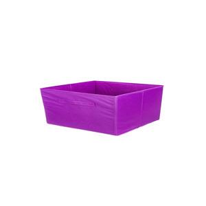 Cesto Organizador Tecido Roxo 15x31x15 cm Importado