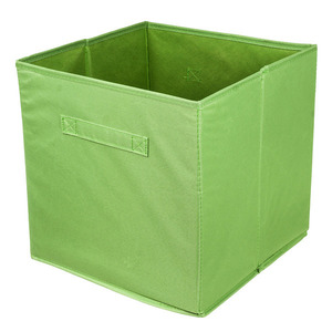 Cesto Organizador Tecido Verde 31x31x15 cm Importado