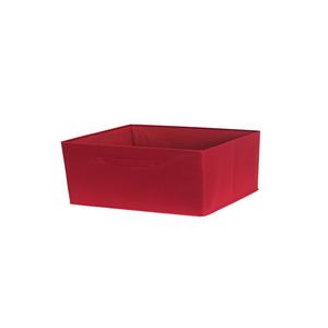 Cesto Organizador Tecido Vermelho 15x31x15 cm Importado