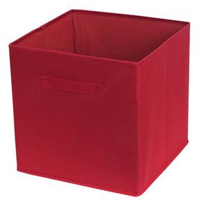 Cesto Organizador Tecido Vermelho 31x31x15 cm Importado