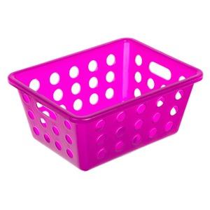 Cesto Organizador Plástico 1,25L Roxo sem Tampa 7,80x13,70x18,50cm Organize Brinox